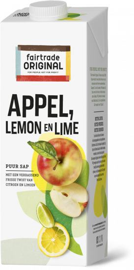 Fair Trade Original Appelsap met lemon&lime, MH, 1l