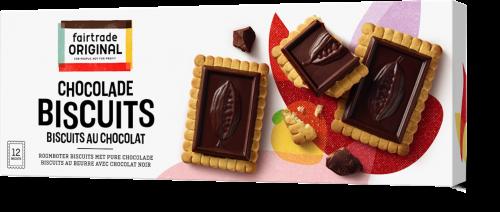 Fair Trade Original Choco biscuits puur, MH, 150g