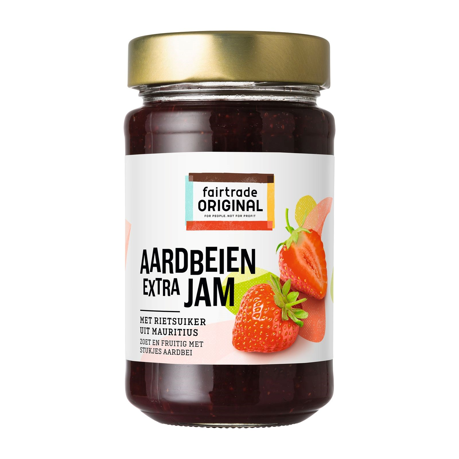 Fair Trade Original Aardbeien extra jam, MH, 280g