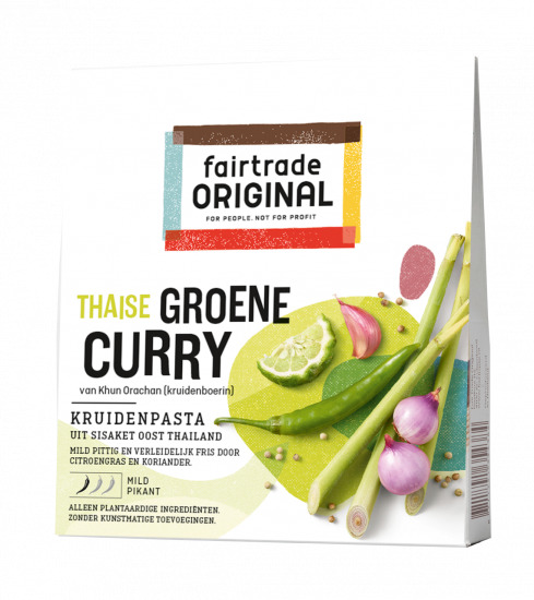 Fair Trade Original Groene Curry Kruidenpasta, 70g