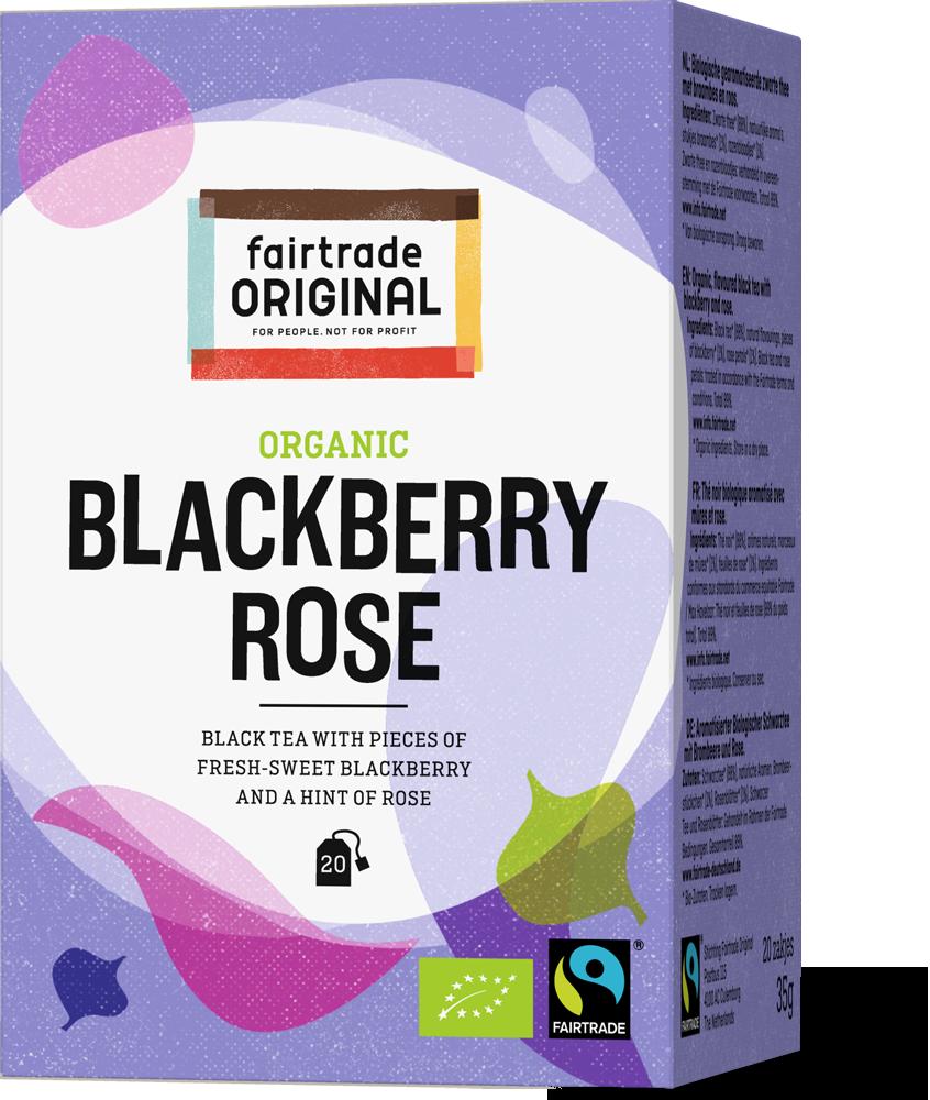 Zwarte thee braambes roos, bio, 20x1,75g