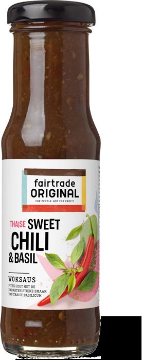 Woksaus Sweet chili & basil, FLO, 150ml