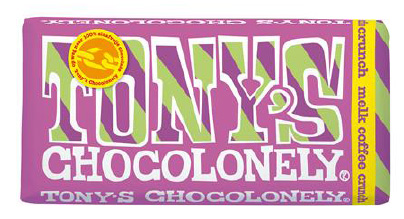 Tonys Chocolonely Reep Tony excl. Melk Coffee Crunch, 180gr