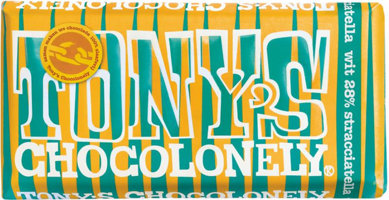 Tonys Chocolonely Reep Tony excl. Wit Stracciatella, 180gr