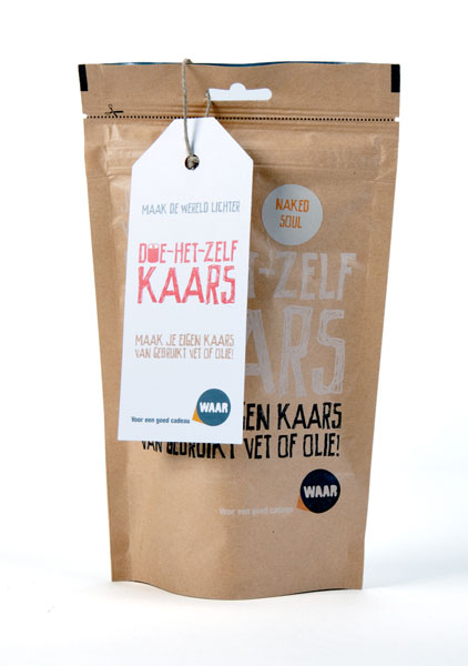 The Greatest Candle Kaars Diy Kit - Naked Soul Wit 60g