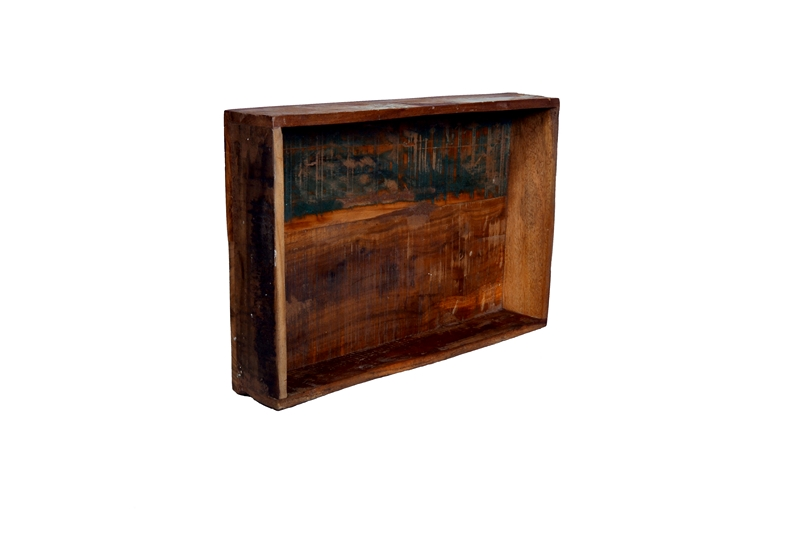 Eco Collection Bakje Scrapwood (Groot) 45x30x8