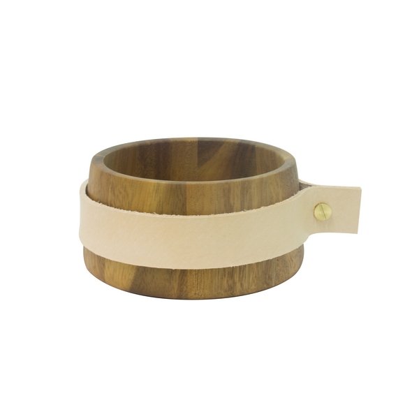 Eco Design Snackbowl 12x6 Met Leerband