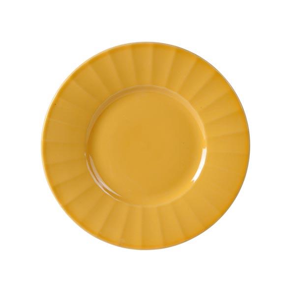 Bord 'Lemonade' Geel Keramiek O=19cm