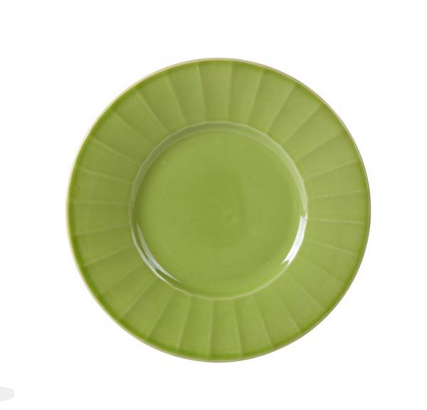 Bord 'Lemonade' Groen Keramiek O=19cm