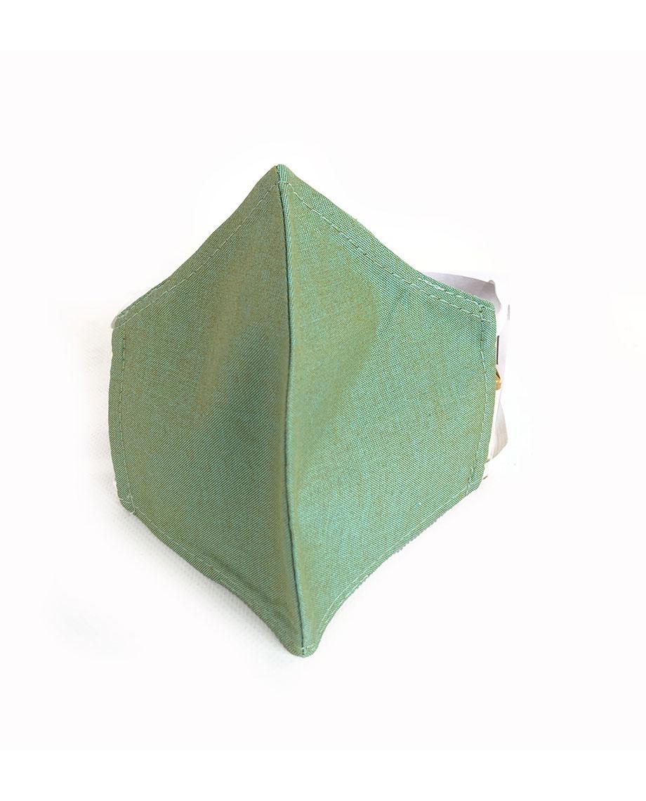 Mondkapje M, licht groen