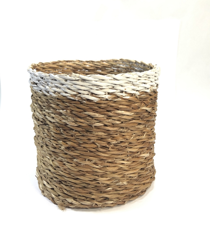 Mand Hogla witte band ø15xH15cm