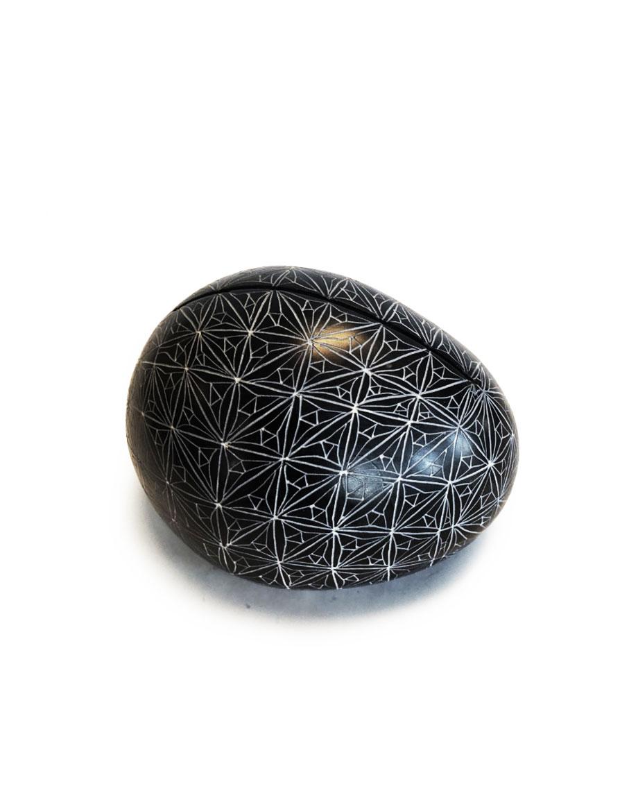 Kaarthouder Kisii steen medium ster L10x B7,5x H7 cm