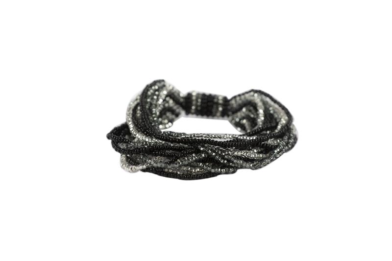 Bohemian Fair Trade Armband Gelaagd Zilvergrijs