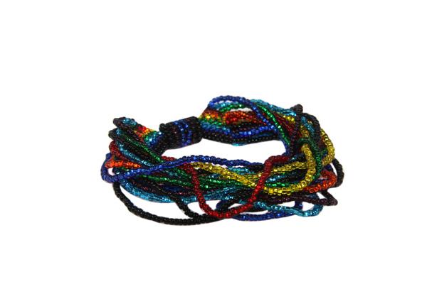 Bohemian Fair Trade Armband Gelaagd Regenboog