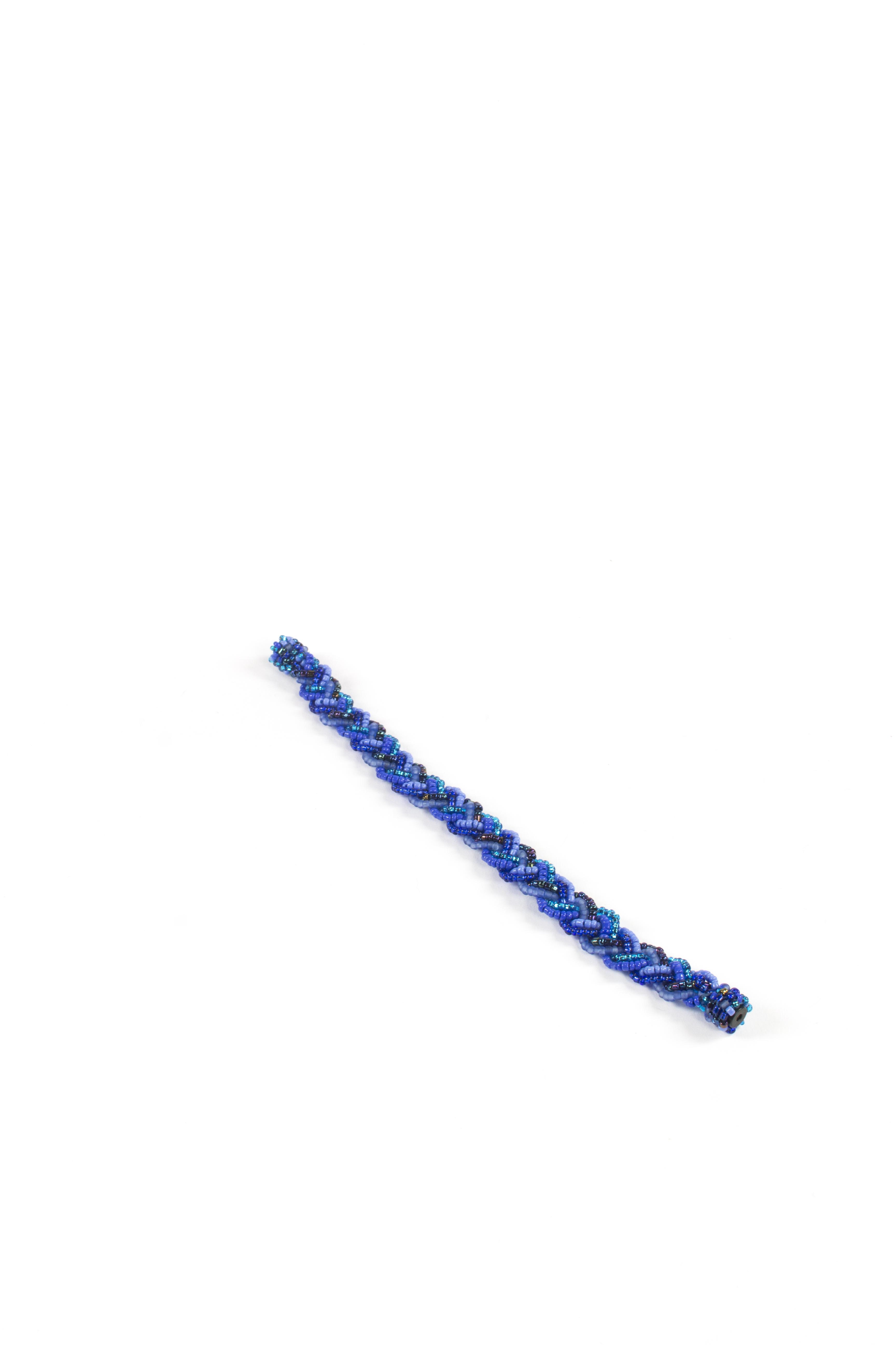 Bohemian Fair Trade Armband Gevlochten Blauw