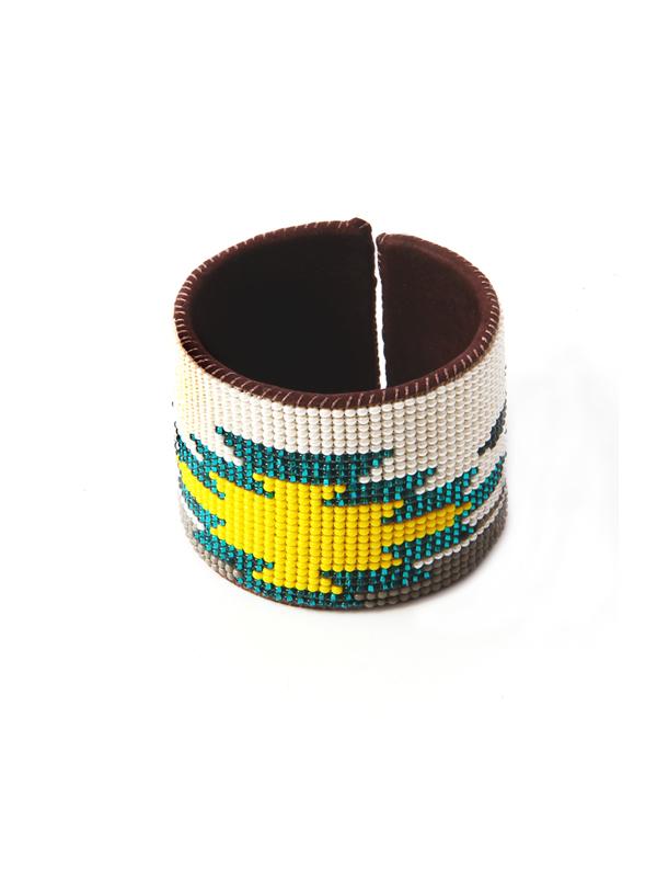 Armband Rond Leder Groen 1 L