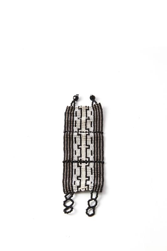 Bohemian Fair Trade Armband Breed Zwart