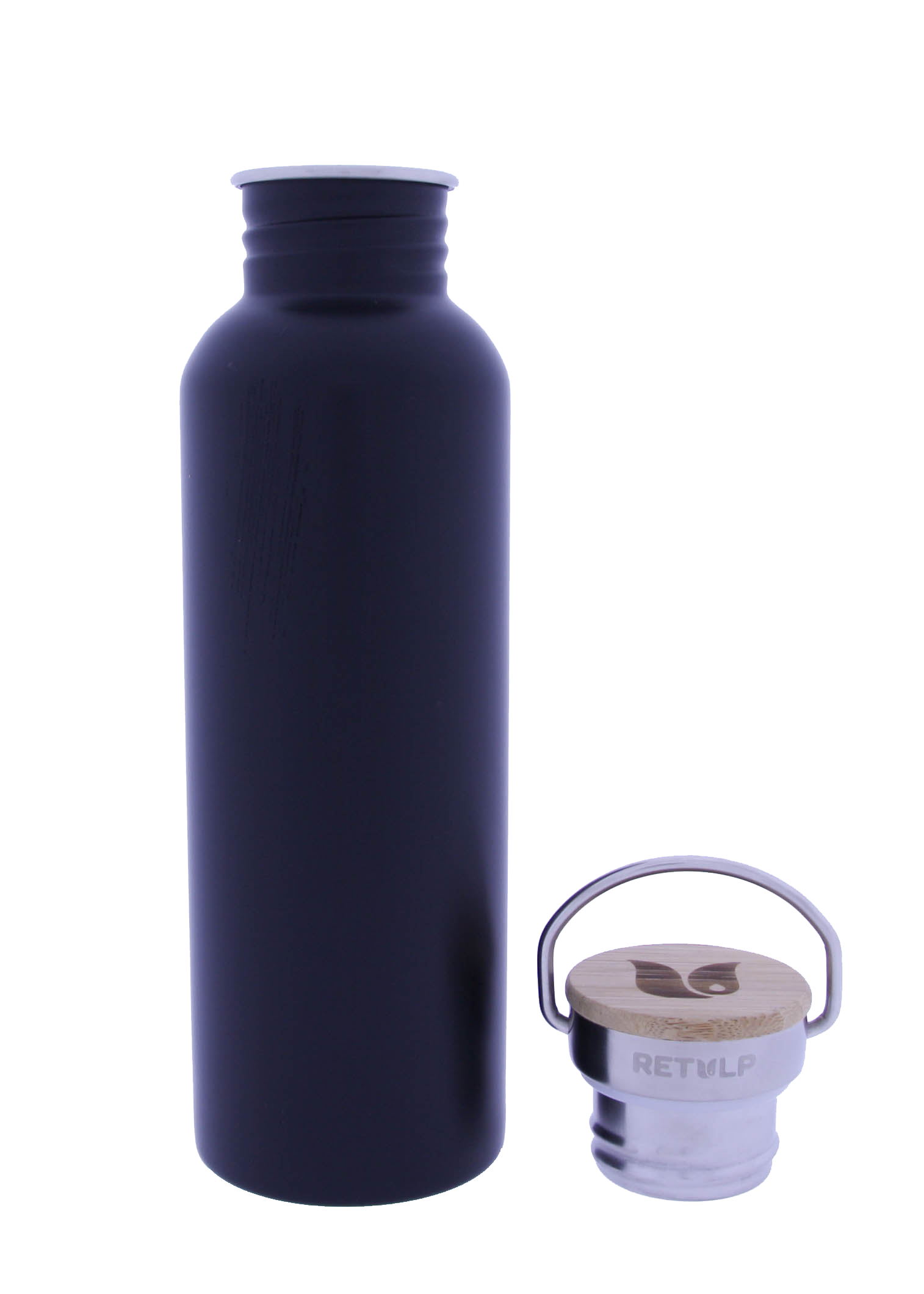 Retulp Urban Drinkfles Night Black met RVS dop 750 ml