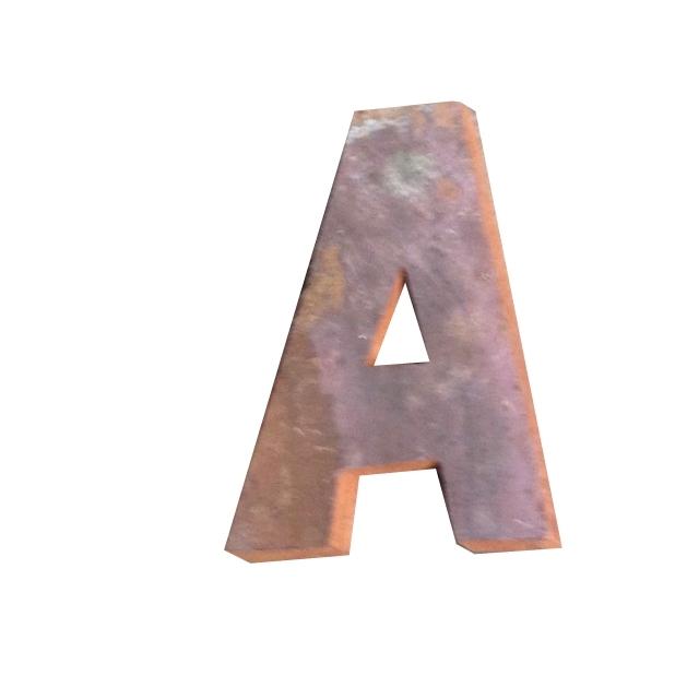 Letter A Scrapwood 18 Cm