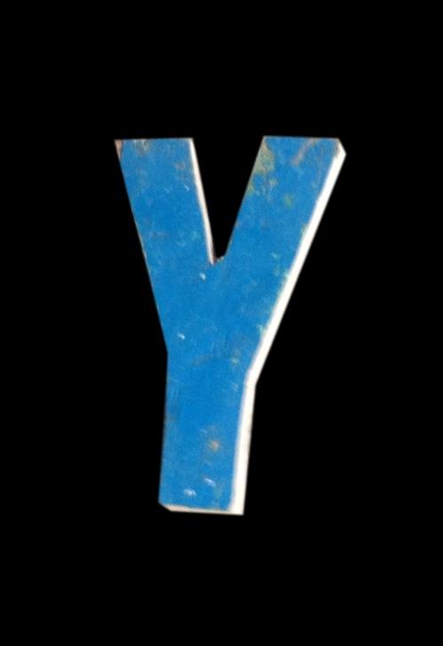 Letter Y Scrapwood 18 Cm