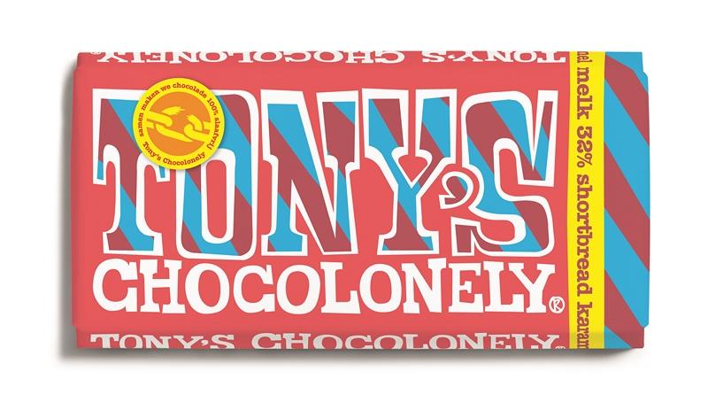Tonys Chocolonely Reep Tony excl. Melk Shortbread karamel, 180gr