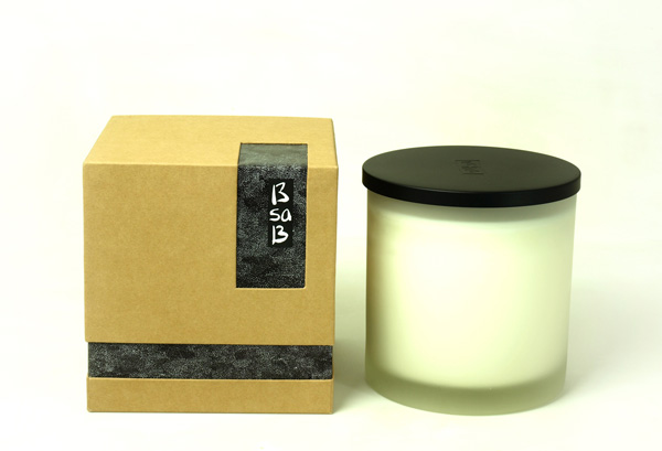 Candle Large Transparant Frosted Glass Olive Grove (Fr)