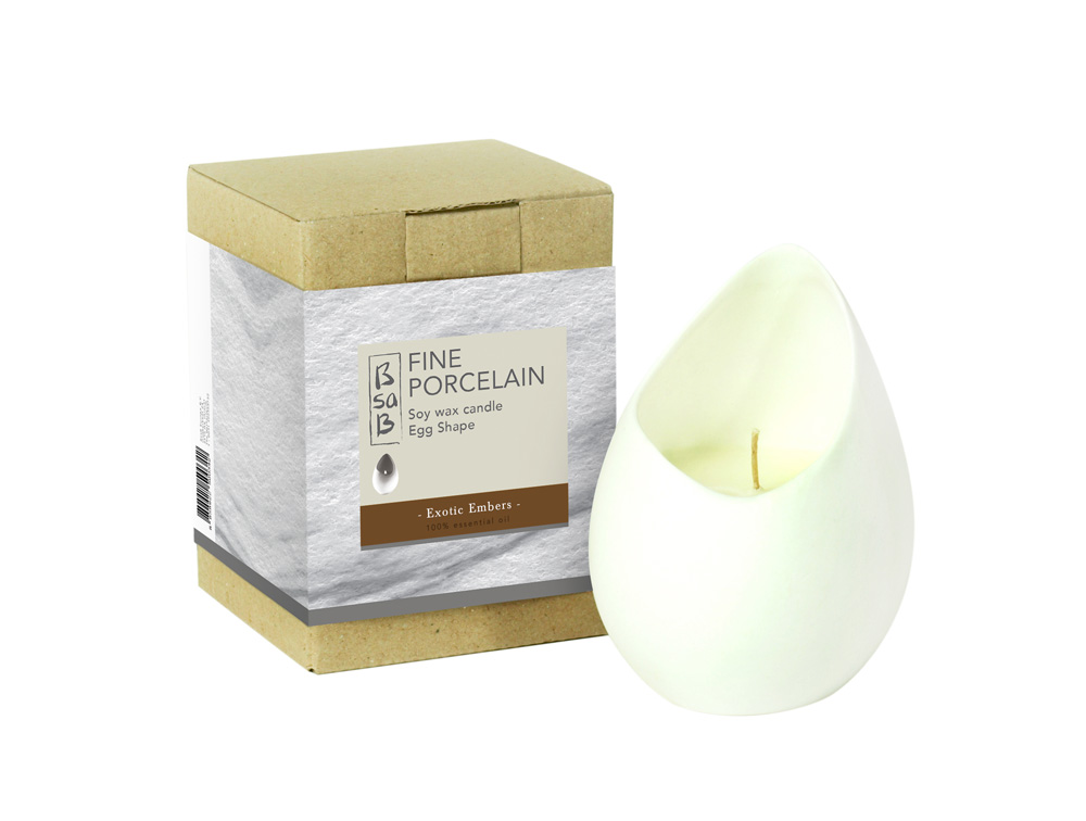 BsaB Candle Fine Porcelain Egg Exotic Embers (Eo)